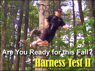 Treestand safety harness test 2009 by bowsite com bowhunting